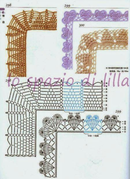 Oltre 25 fantastiche idee su bordi realizzati all for Schemi bordure uncinetto per mensole