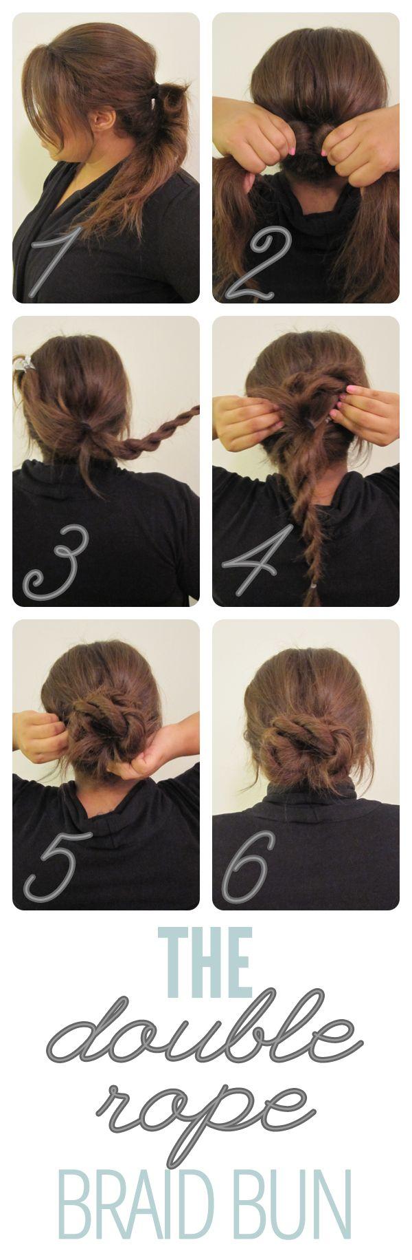 The Double Rope Braid Bun<3