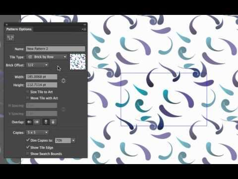 How to create repeating and half drop patterns in Adobe Illustrator CS6