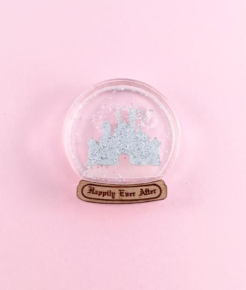 Happily Ever After Snow Globe Pin AU$15.00