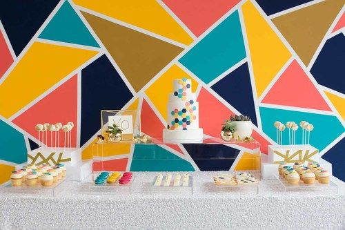 If you have an amazing backdrop, keep the items an decorations on the table simple.