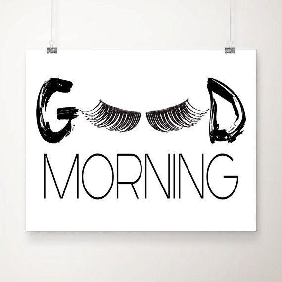 Good Morning Lashes Art Print Beautician Decor by DCAStudio