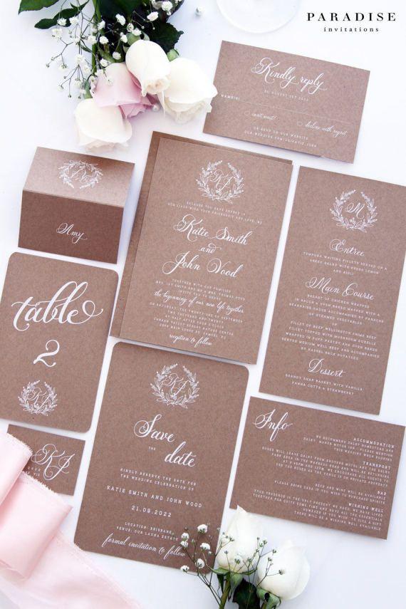 29 best Rustic Wedding Invitations images on Pinterest | Twine ...