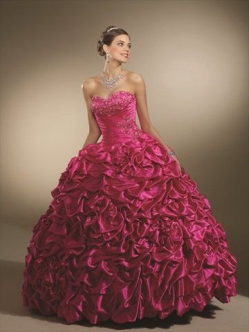 LOOVVVE....in white please? :): Princesses Dresses, Pink Wedding Dresses, Ball Gowns, Satin, Occa Dresses, Hot Pink, Prom Dresses, The Dresses, Quinceanera Dresses