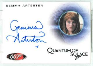 James Bond 50 th Anniversary Series 2 (A138) Gemma Arterton as Fields Auto Card