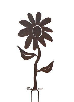 Flower Garden Stake   One   Metal Garden Art | Overwrought
