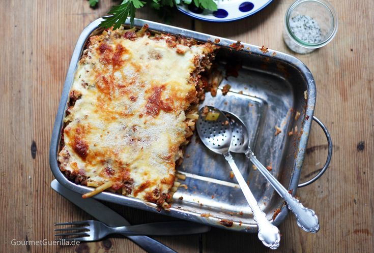 Homemade Makkaroni-Lasagne á la Mama (und ganz ohne Tüte)