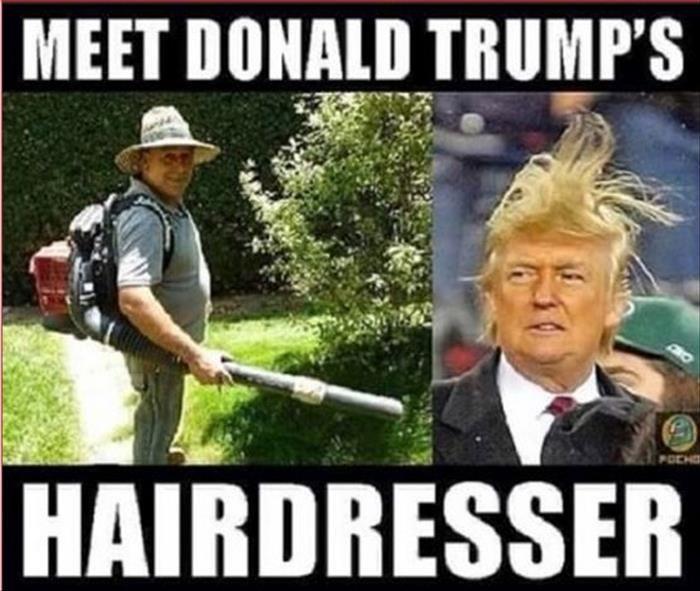 Donald trump's hair dresser