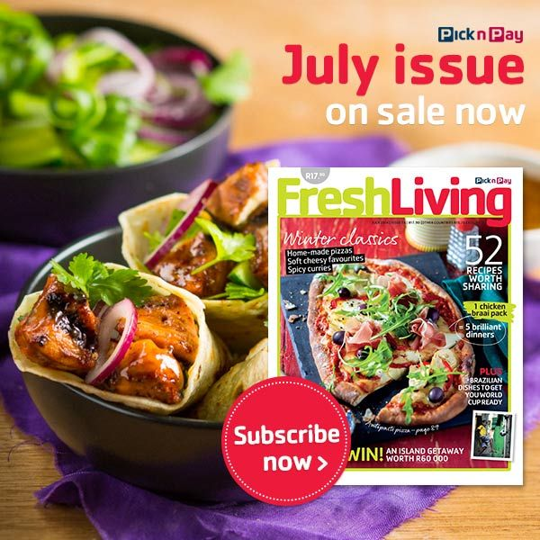 July #FreshLiving on Sale Now! Winter classics, home-made pizzas, soft cheesy favourites, spicy curries plus Brazilian dishes.