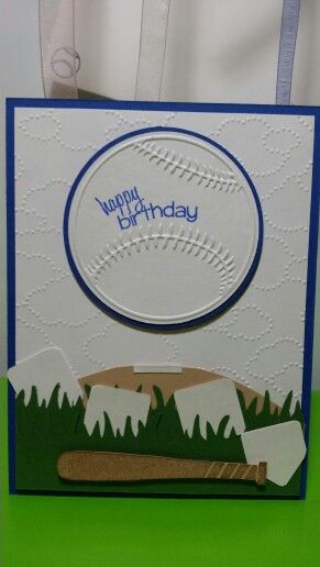 The stamps of life, stampin ' Up, cuttlebug baseball birthday card