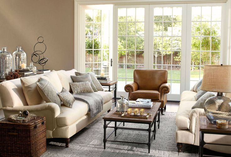 Pottery Barn Living Room Love The Light And Soothing