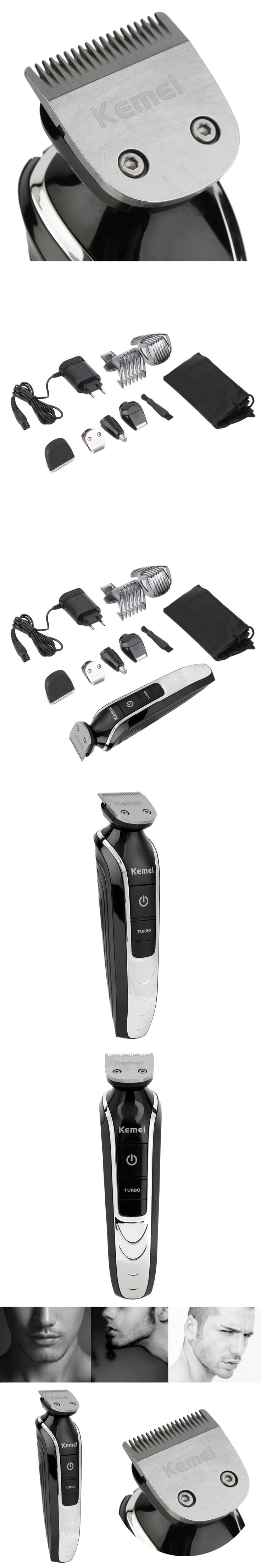Kemei 5 in 1 Professional Electric Beard Cutter Hair Trimmer 360 Degree Hair Clipper Trimmer Shaving Hair Cut Tool