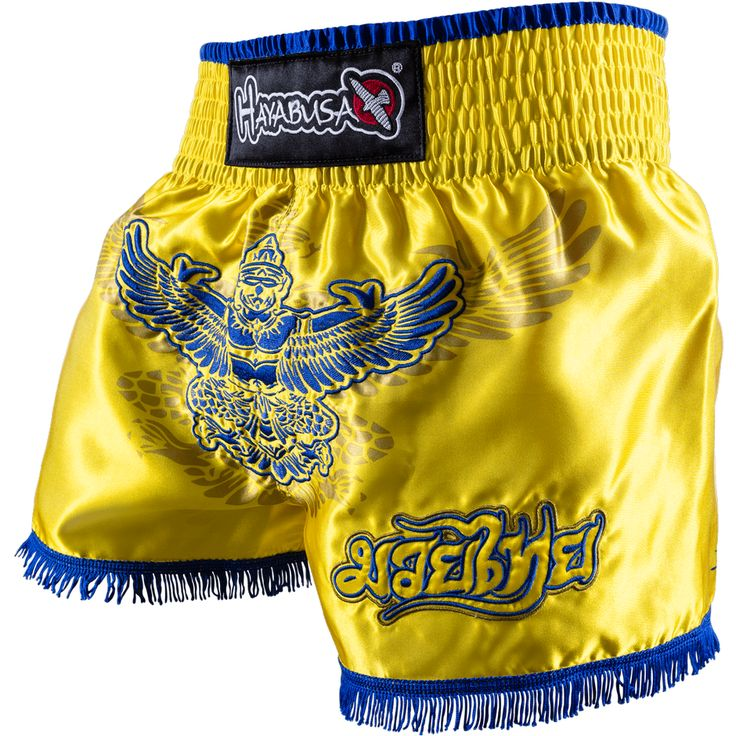 Hayabusa Garuda Muay Thai Shorts - Yellow/Blue
