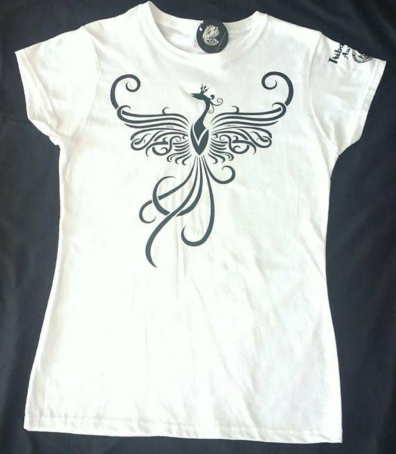 Women's Ladies Graphic Tribal T/Shirt (Liar Bird) - Tribal - Tribal Tee - Tribal style - Tribal wear - Tattoo graphic - Tribal graphic
