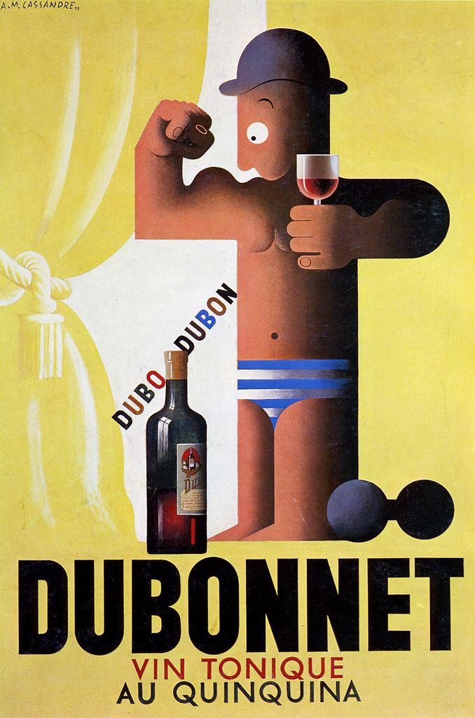 Original gouache study for an unpublished poster created for Dubonnet by A.M. Cassandre, 1932 | by kitchener.lord