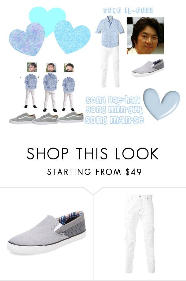 """""""song triplets and song il gook"""" by lovesehunair on Polyvore featuring Ben Sherman, Dsquared2, Hollister Co., men's fashion and menswear"""