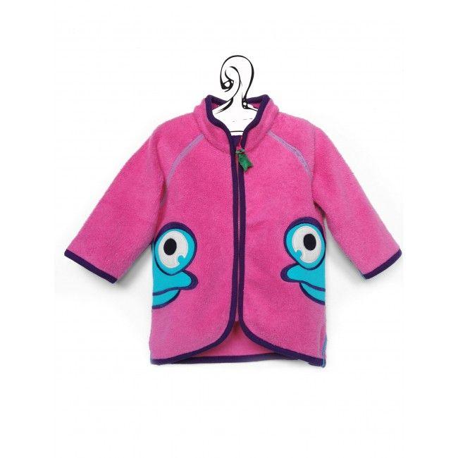 Pink Pile felpa con zip per baby, regalo originale in cotone biologico certificato, capo firmato ed economico, felpa colorata morbida e pratica.
