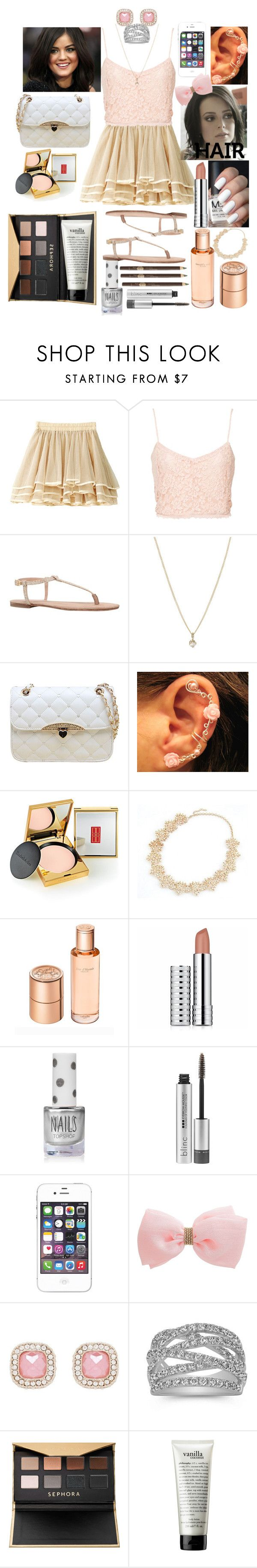 """Lucy Hale #20"" by haroldamore ❤ liked on Polyvore featuring NLY Trend, Kurt Geiger, Laura Lee Jewellery, Chicnova Fashion, Elizabeth Arden, Hermès, Clinique, Topshop, Blinc and Miss Selfridge"