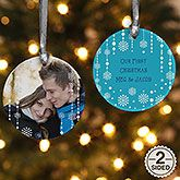 Personalized Photo Sentiments Ornament - 1-Sided - Ornament Gifts