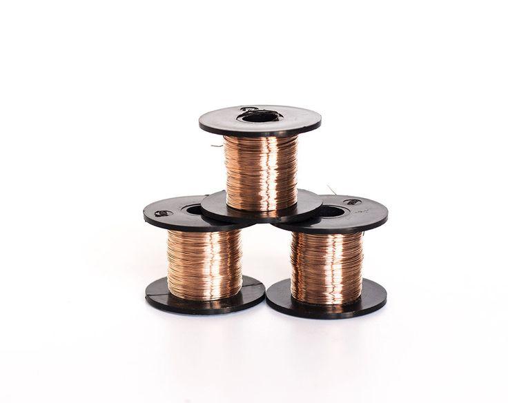 2441_Bronze wire 28 gauge, Jewelry wire 0.315 mm, Bronze craft wire, Wire wrap, Craft thin wire, Wrapping wire, wire spool, 28 ga wire_50 g. by PurrrMurrr on Etsy