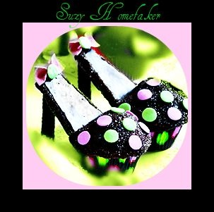 I am far from a shoe freak, but these would be so cute at a teenage-girl's birthday party :)
