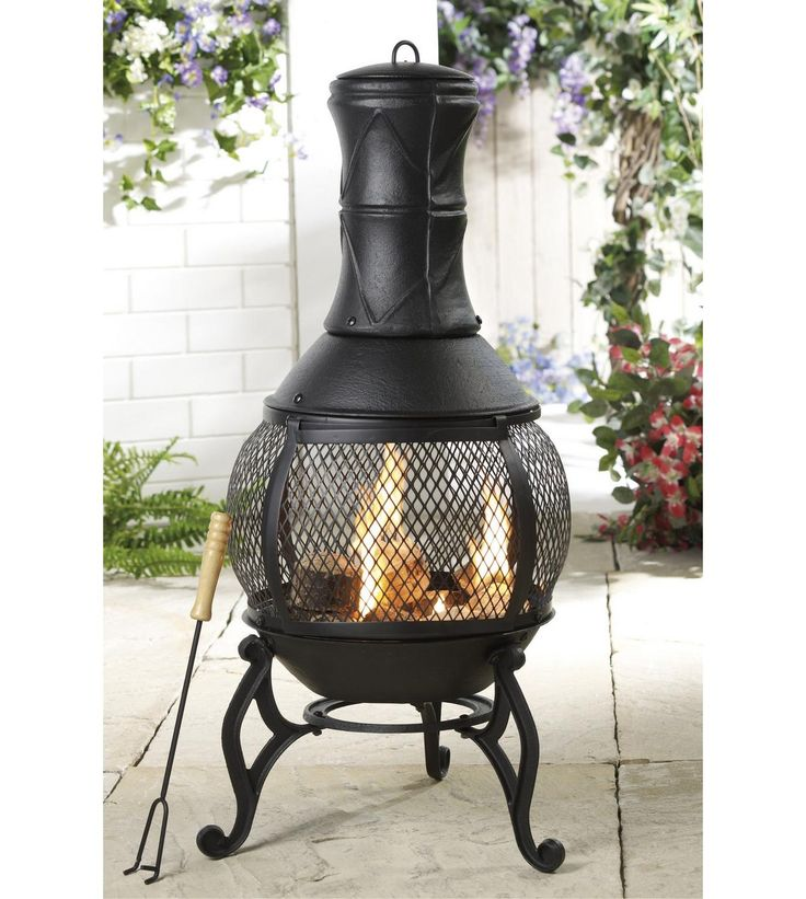 Image for Cast Iron Chiminea/Fire Pit from studio
