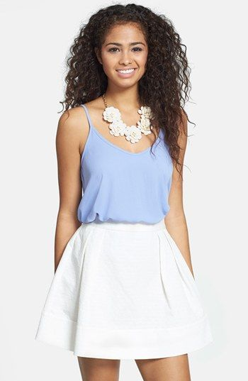 $34, Jacquard Skater Skirt by Frenchi. Sold by Nordstrom. Click for more info: http://lookastic.com/women/shop_items/54133/redirect