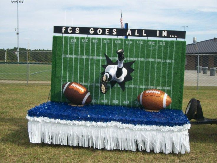We go ALL IN! Football homecoming parade float inspiration