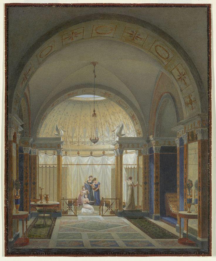 Bathroom and Boudoir Interior, 1807 by Jean-Claude Rumeau.