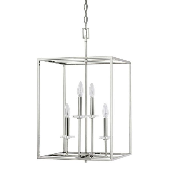 Capital lighting morgan foyer chandelier in polished nickel