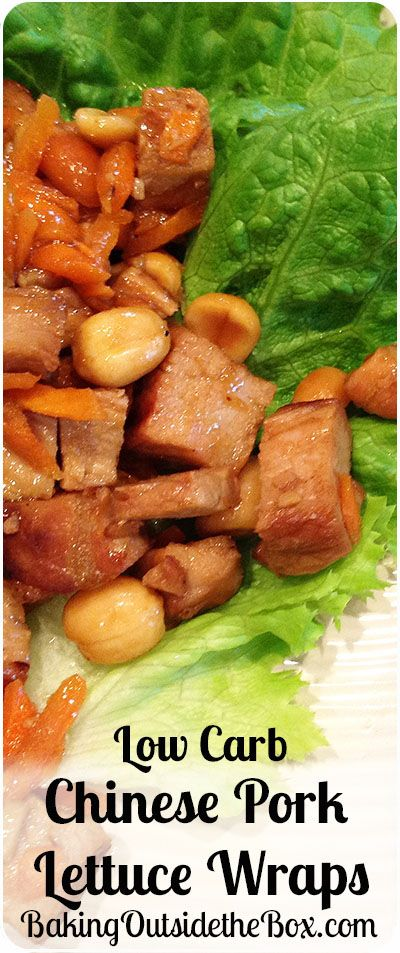 #bakingoutsidethebox | Satisfy a craving for Chinese food with easy this Low Carb Chinese Pork Lettuce Wraps recipe. Planning ahead makes this restaurant-style treat a snap.