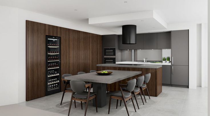 Rich toned kitchen for an apartment in Rozelle, NSW