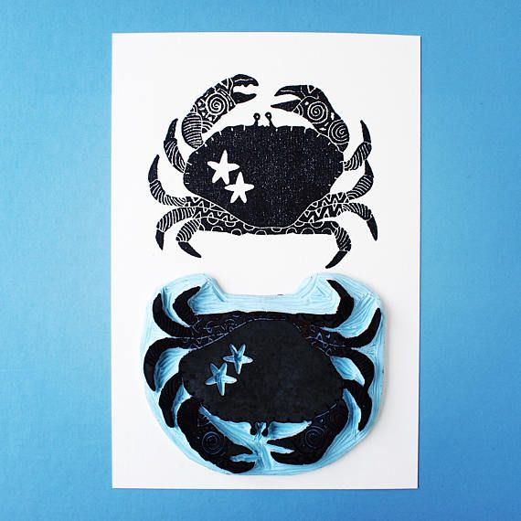 Crab the Sheriff  Limited Edition Handprint