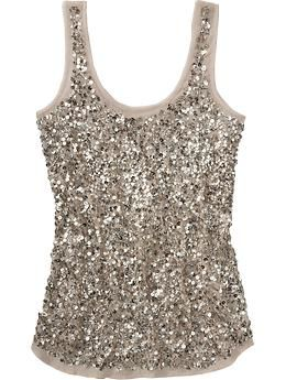 Such a cute little affordable tank from Old Navy. Perfect for a night out with a cream or chocolate brown cardigan.