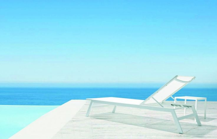 Bianco Chaise Lounge | Modern Outdoor Chaise Lounge | Babmar.com