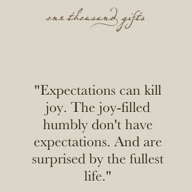 I agree with this, except I believe that hope is an expectation. And having hope for the future is healthy and good.