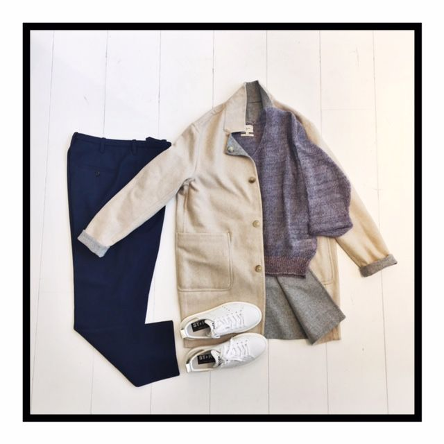 Reversible Jacket by Closed / Pantalon by Golden Goose Deluxe Brand and Sneakers by Golden Goose Deluxe Brand
