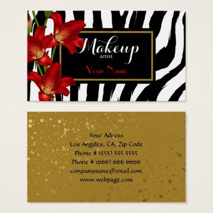 makeup artist Business Card - makeup artist gifts style stylish unique custom stylist