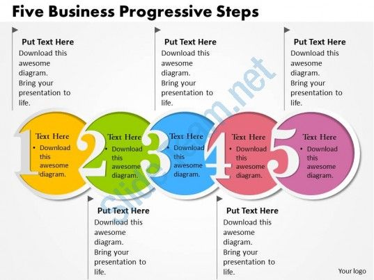 0314 business ppt diagram five business progressive steps powerpoint template Slide01