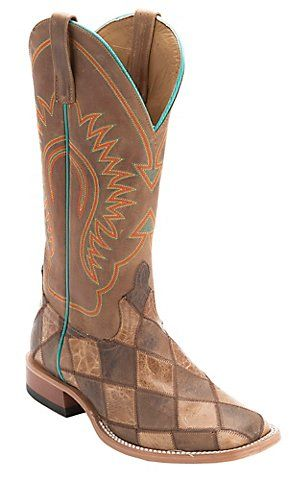 Anderson Bean® Men's Brown & Tan Crazy Train Patchwork Square Toe Western Boots | Cavender's
