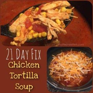 21 Day Fix Crockpot Tortilla Soup