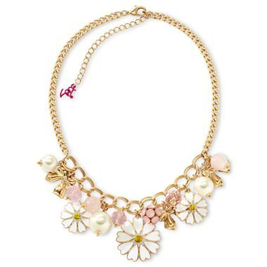 Betseyville® Flowers & Bows Link-Chain Collar Necklace - jcpenney