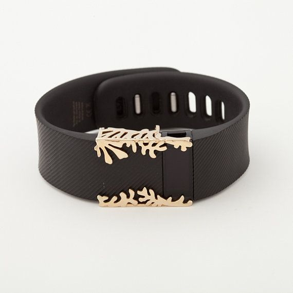 polished brass Matisse cuff  Fitbit Charge and Charge HR by bytten