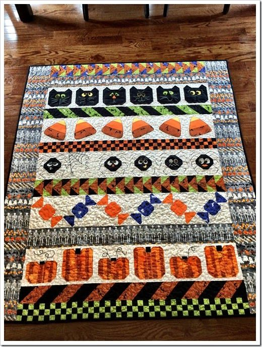 Polly S Spooky Rows Of Fun Halloween Quilts Pinterest