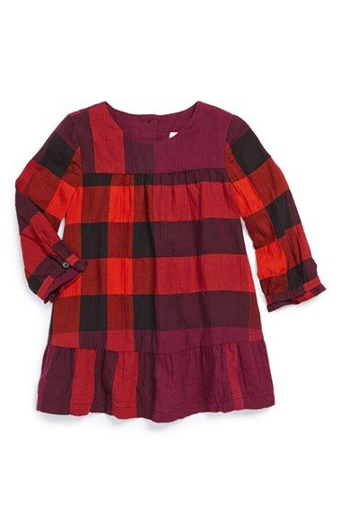 Burberry Check Dress Baby Girls available at Nordstrom