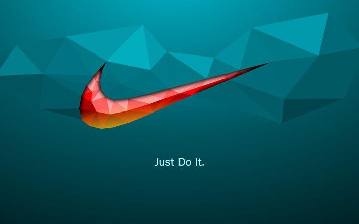 Herunterladen hintergrundbild slogan von nike, tun sie es einfach, 4k, kreativ, nike