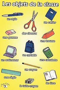 Poster - Les Objets de la Classe - Little Linguist