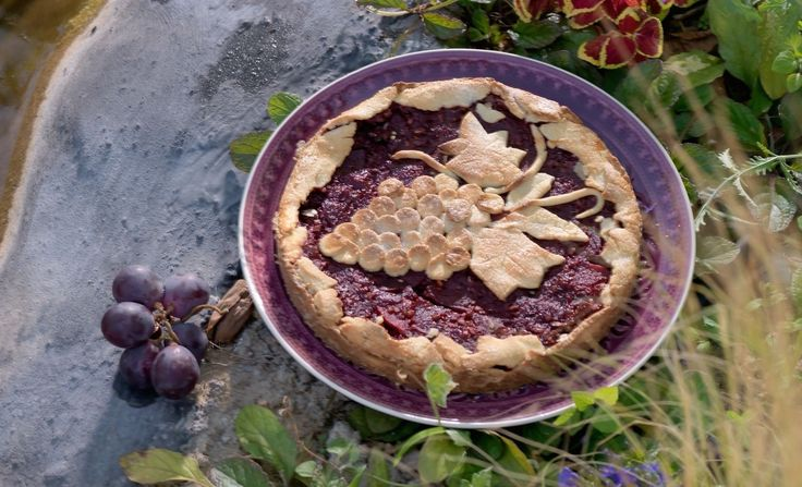 "Quite a unique tart! Red Wine is added which gives the tart a rich aroma and color… It is a traditional Italian recipe made to honor the town's patron Sant' Antonio. Shall I say ""Bottoms up""??? #tart #recipeoftheday #breakfast #akispetretzikis"