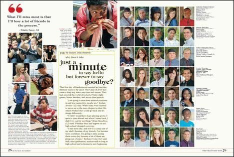"""""""What I'll miss most"""" coverage added to mug spreads  McClintock High School, 2011"""