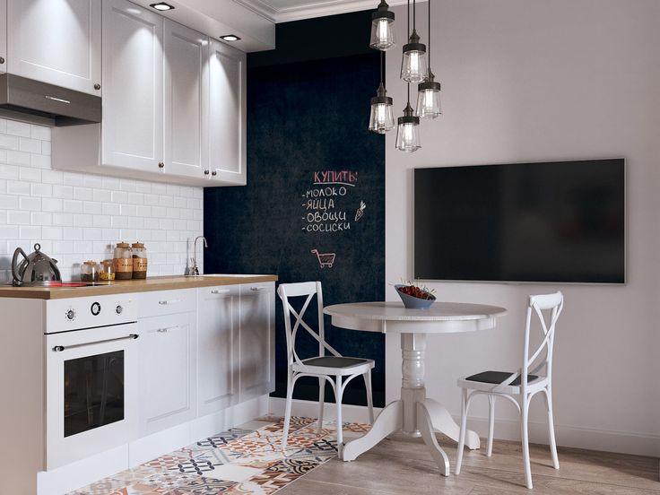 Интерьер кухни в студии 26 кв. м.